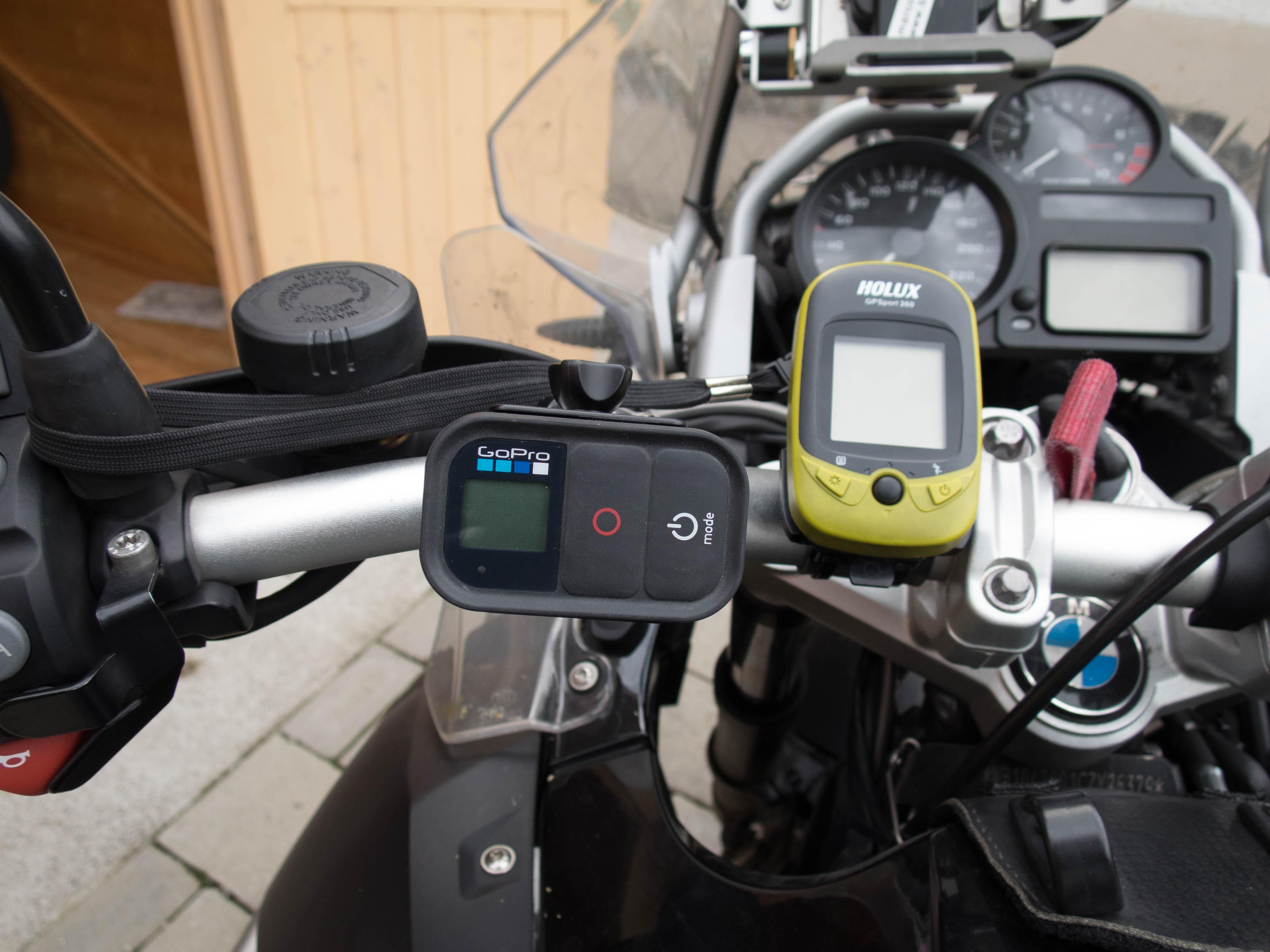 GoPro WiFi Remote beim fahren bedienen
