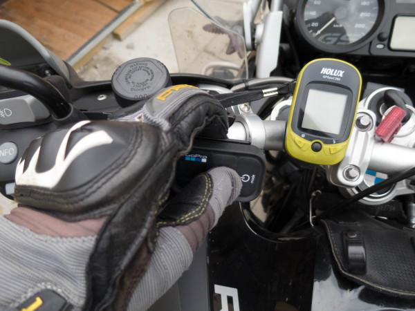 Bedienen der GoPro WiFi Remote beim fahren