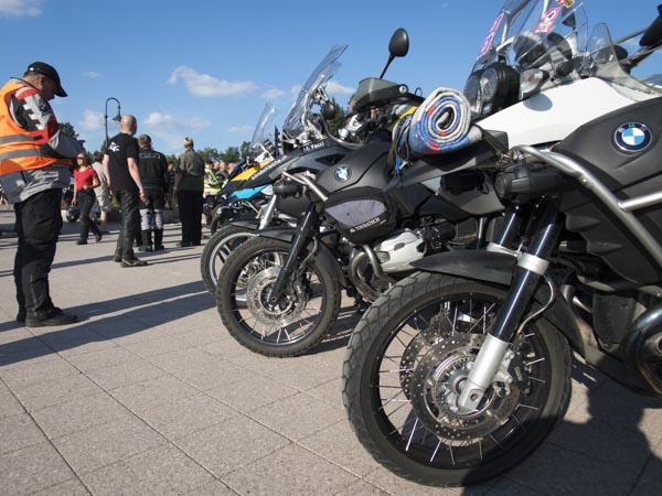 BMW GS Endurobikes Treffen Parkplatz