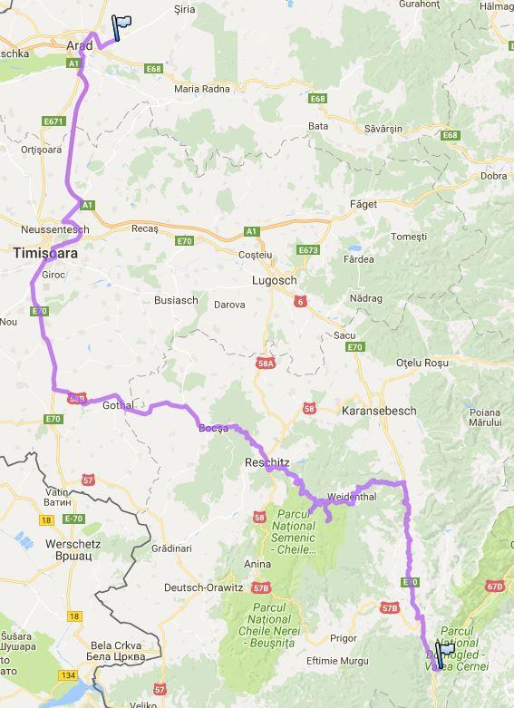 Rumänien, Semenic, Tag 2, Crash