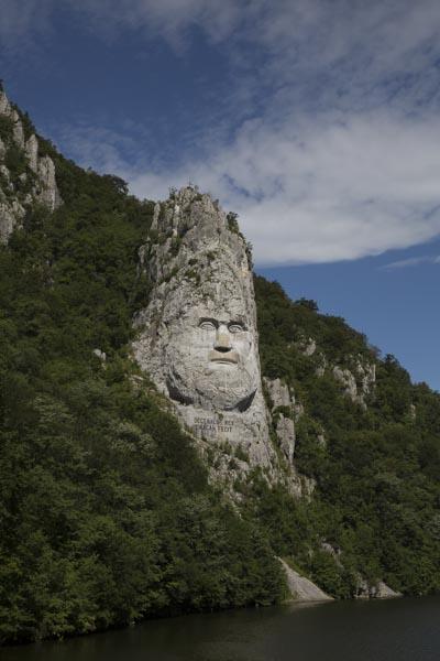 Donaudurchbruch, Statue des Decebalus
