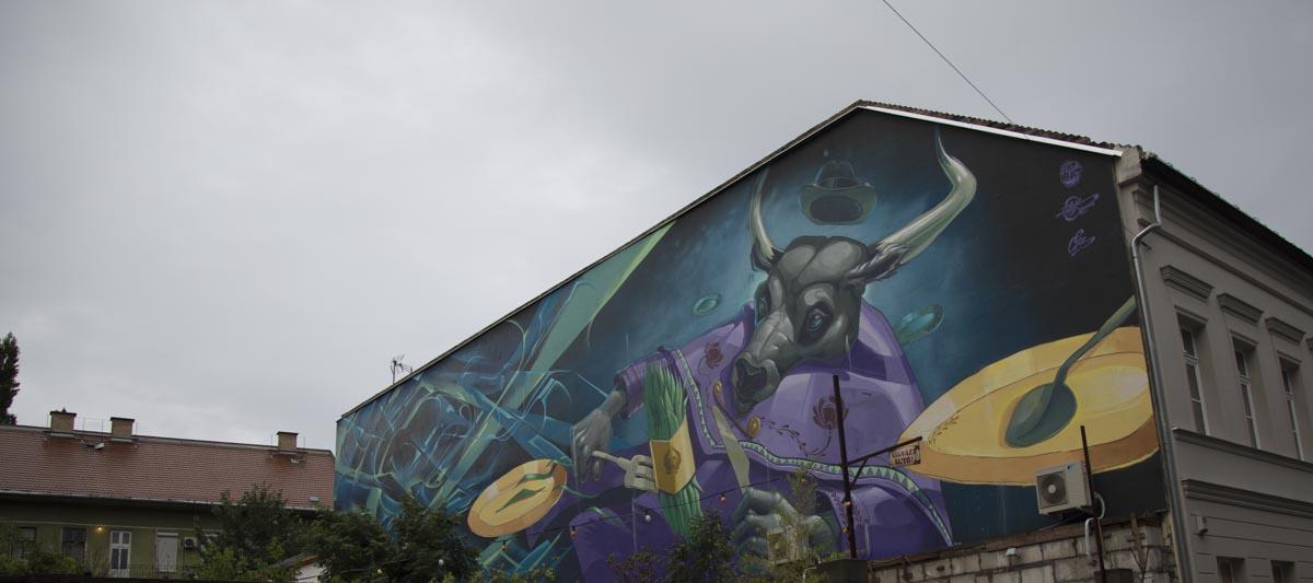 Fotografischer Rückblick, Budapest, Wandmalerei