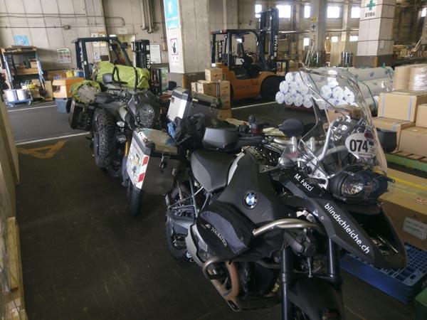 Japan, Motorrad Transport, Spedition, Verpackung