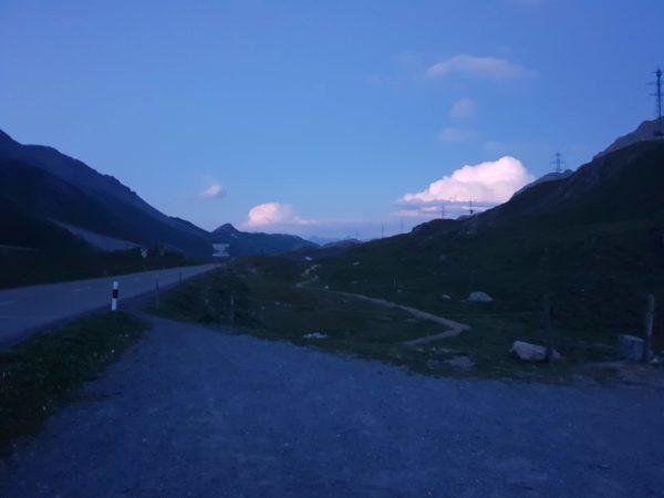 Albulapass, Mondfinsternis, Graubünden, Schweiz