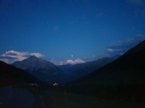 Blutmond Albulapass Graubünden Schweiz