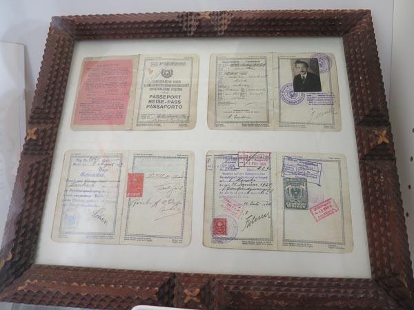 Reisepass von Albert Einstein, zu sehen im Einsteinhaus in Bern