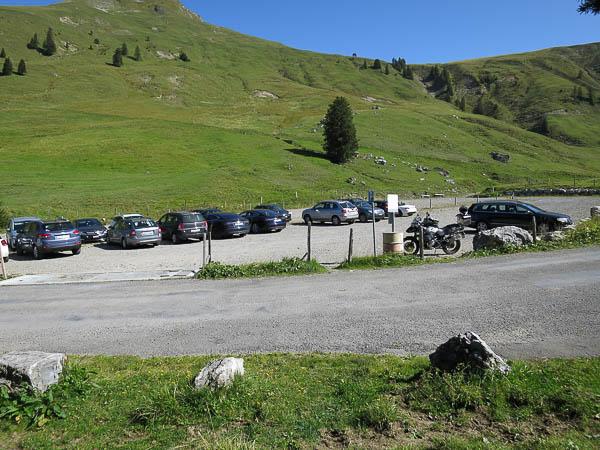 Mittelpunkt der Schweiz, Parkplatz
