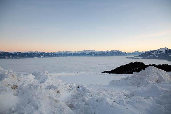 Nebelmeer über dem Rheintal, Aufgenommen auf dem St.Anton