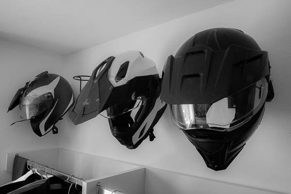 Motorradhelm Halter