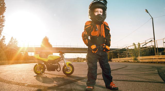 Sicherheit durch Motorradprotektoren für Kinder