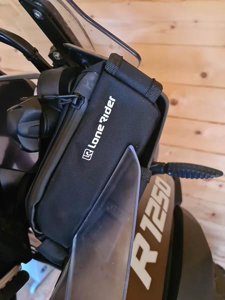 Cockpittaschen von LoneRider an der BMW R1250 GS Adventure