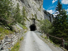 Kunkelspass, Tunneleingang