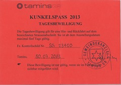 Kunkelspass Fahrerlaubnis 2013