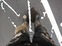 SIDI Adventure Gore Tex Nach einem Tag in der verschneiten Kiesgrube