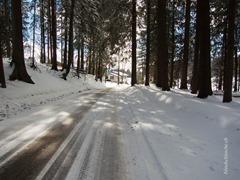 Schnee auf der Strasse